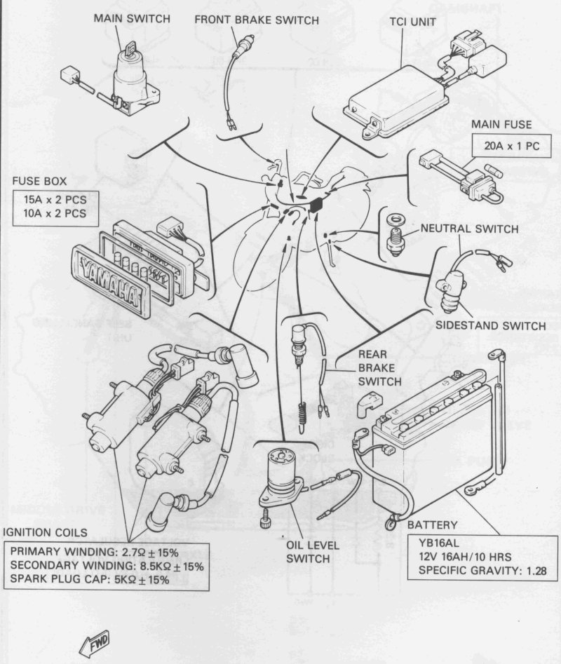 1985 Xr600 Wiring Diagram Electrical Wiring – Xv750 Wiring Diagram 1985