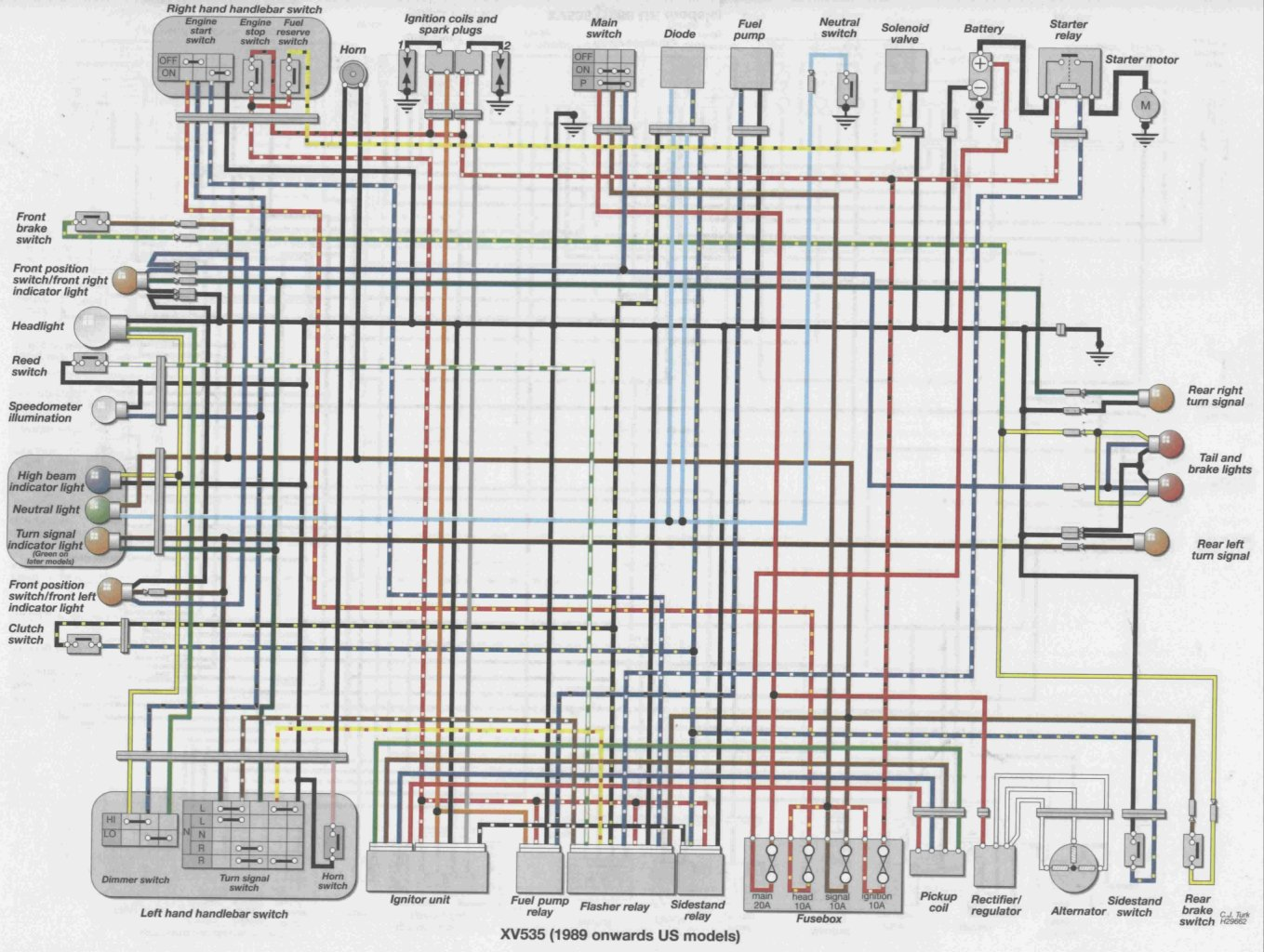 Solved  Wiring Diagram For A 1989 Yamaha Virago