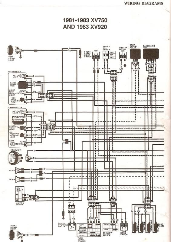 1996 Yamaha Virago 250 Wiring Diagram