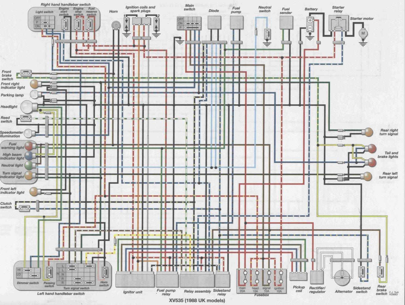 1985 Yamaha Virago 750 Wiring Diagram
